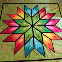 Primatic Star, Quiltworx.com, Made by Marie Watterlond.