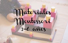 Actividades y materiales Montessori anos) - Tigriteando - Montessori ideas Maria Montessori, Montessori Toddler, Montessori Activities, Infant Activities, Toddler Preschool, Educational Activities, Activities For Kids, Crafts For Kids, Learning Colors