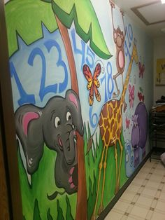 Mural, daycare center bathroom.