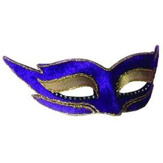 Venetian (Purple) Mask Adult Halloween Costume Accessory ❤ liked on Polyvore featuring costumes, masks, blue halloween costume, blue costume, adult costume, adult halloween costumes and purple costume