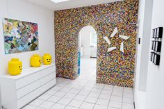 I would totally do this if I could!  The wall is completely covered in Lego.  Legowand