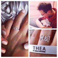 """Ring """" M&J """" Don't forget to post a picture of your Thea Jewel with the hashtag #Theajewelry"""