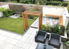 A Modern New Build Garden - Lush Garden . A Modern New Build Garden - Lush Garden . English Garden Design, Back Garden Design, Backyard Garden Design, Patio Design, Rectangle Garden Design, Backyard Ideas, New Build Garden Ideas, Small Garden New Build, Back Garden Ideas