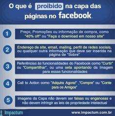 O que é proibido na capa das paginas no facebook