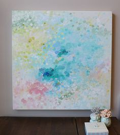 Acrylic painting abstract painting,soft color,pastel color painting on…