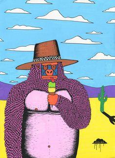 Sorbet Pete by Mulga the Artist-web Art And Illustration, Graphic Design Illustration, Illustrations, Arte Inspo, Psy Art, Hippie Art, Canvas Designs, Art Boards, Artsy