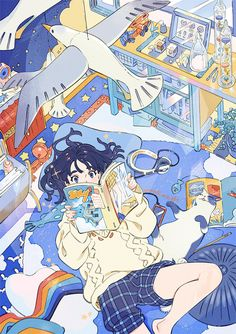 Anime Scenery Wallpaper, Cartoon Wallpaper, Anime Art Girl, Manga Art, Pretty Art, Cute Art, Aesthetic Art, Aesthetic Anime, Character Art