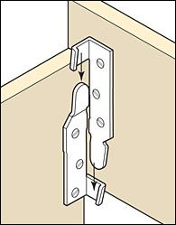 Bed Rail Fasteners - HardwareAnyone building a wooden bed is eventually faced with the problem of moving it. If it does not have detachable rails, some destructive dismantling is necessary. These heavy-duty steel fasteners interlock at both ends of the fittings to maintain frame squareness as well as strength.