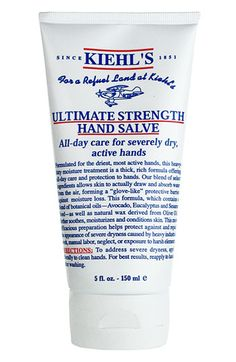 Today through Sunday in stores, spend $65 at the Kiehl's counter and receive this 5oz. Ultimate Strength Hand Salve as a gift.