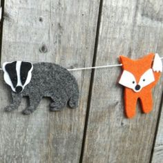 Badger and fox friends hanging out together