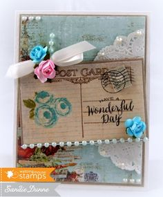 The Crafty Side Of Me. Scrapbooking Layouts, Scrapbook Pages, Stamp Tv, Shabby Chic Cards, December 2014, Post Card, Crafty Projects, Cool Cards, Junk Journal