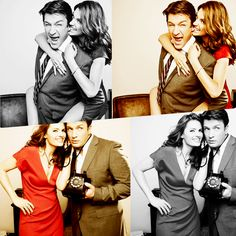 Richard Castle and Kate Beckett // Nathan Fillion and Stana Katic  They are such a gorgeous couple :)