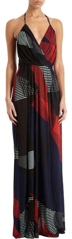 10 Crosby Derek Lam Geometric Print Maxi Dress at Barneys.com
