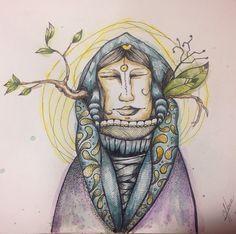 Tinta y acuarela #ilustracion