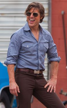 "From his square aviators to his cowboy-inspired garb, Tom Cruise's style for his new film ""Georgia"" is totally country chic!"