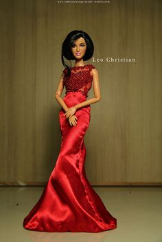 Katrina wears Miss Indonesia Universe 2013 Evening Gown Love Couture, Couture Fashion, Fashion Show, Dress Up Dolls, Barbie Dolls, Diva Dolls, Dolls Dolls, Costume Collection, Barbie Collection