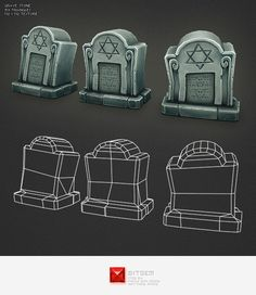 Low Poly Grave Stone 02 - 3DOcean Item for Sale  General grave stone ideas