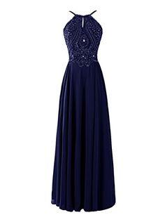 Dresstells® Chiffon Dresses Spaghetti Straps Crystal Evening Dresses Dresstells…