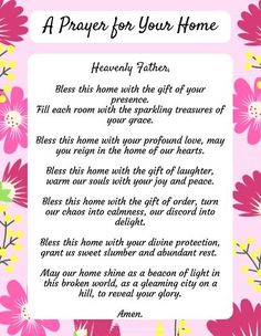 A prayer for your home