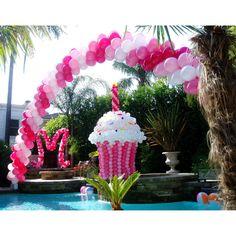 balloon cupcake