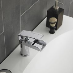 Hudson Reed Rhyme Open Spout Basin Mixer Tap Without Waste Rhy305