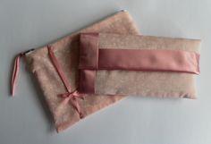 Reduced! Pink, satin trimmed, glasses case and make up bag £10.00