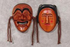 Carved Korean masks
