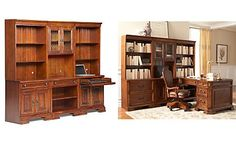 Goodwin 6-Pc. Home Office Set (2 Hutches, Door Hutch, Shelf and 2 Desk Bases)