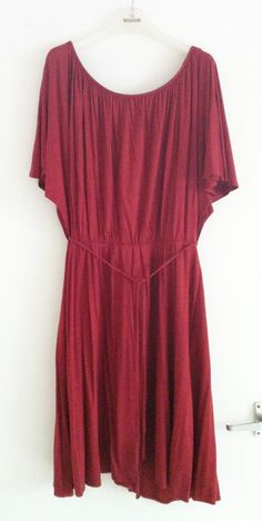 Topshop size 12 rust red jersey draped boho festival summer dress good condition