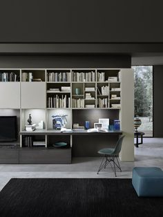 The luxury multimedia unit by Studio IQ is available with an integrated desk space, perfect for home offices where storage is required. Available from IQ Furniture.