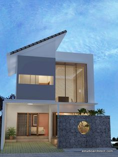 Girl House, My House, Facade Design, House Design, Arch House, Minimalist House, House Elevation, Civil Engineering, Exterior Colors