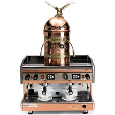Italian Astoria Dual Espresso Machine: Well over the top, but undeniably pretty. #Espresso_Machine #Astoria