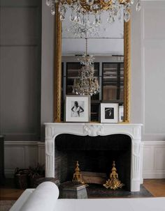 CHRISTIAN LIAIGRE -a minimalist in his 18th Century Paris Home.