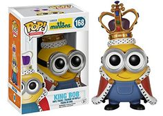 Gru's adorable Minions from the Despicable Me series have done the unthinkable! That infectious cuteness earned the little guys their very own Minions movie. This stylized Minions Movie Minion King Pop! Vinyl Figure stands approximately 3 tall Funk Pop, Disney Pop, Minion Movie, Pop Figurine, Figurines Funko Pop, Funko Figures, Pop Vinyl Figures, Lego, Despicable Me