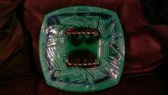 VINTAGE FROM  1960 s  CALIF USA POTTERY DOUBLE ASHTRAY ABSTRACT USED