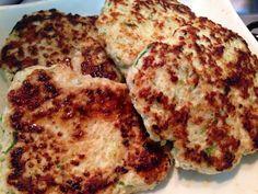 Hambúrguer de frango e amaranto