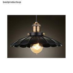 #Ebay #Rustic #Pendant #Light #Fixture #Black #Antique #Industrial #Metal #Kitchen #Hanging #Lamp #Getop #Traditional