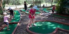 BIG4 Bonny Hills Holiday Park - putt putt golf. swimming pools, putt putt golf, inflatable trampoline, karts for hire, table tennis #big4bonnyhills #portmacquarie #camping #caravanning
