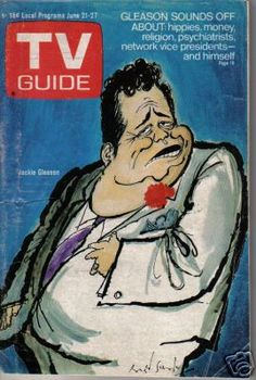 Caricature of Jackie Gleason for TV Guide cover in 1969.