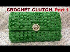 How to Crochet Clutch Purse Part 1 - Hướng dẫn móc ví cầm tay (P1) - YouTube