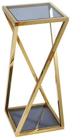 BLUMENSÄULE in Metall, Glas 30/70/30 cm online kaufen ➤ XXXLutz Drafting Desk, Table, Design, Furniture, Home Decor, Stainless Steel, Corning Glass, Metal, Ad Home