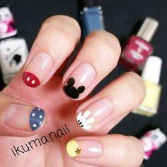 44 Ideas nails art designs disney nailart - Home Cute Nail Art, Cute Nails, Mickey Nails, Disney Gel Nails, Simple Disney Nails, Nail Art Halloween, Nagel Hacks, Best Nail Art Designs, Nagel Gel