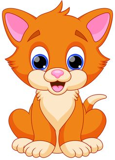 Illustration about Illustration of funny cat cartoon. Illustration of clipart, cheerful, charming - 39175396 Cartoon Cartoon, Cartoon Kunst, Cartoon Characters, Animals And Pets, Baby Animals, Cute Animals, Baby Cats, Cat Clipart