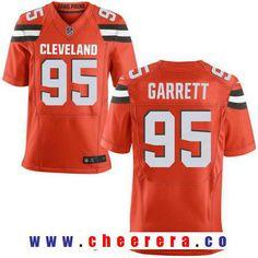 Men's 2017 NFL Draft Cleveland Browns #95 Myles Garrett Orange Alternate Stitched NFL Nike Elite Jersey