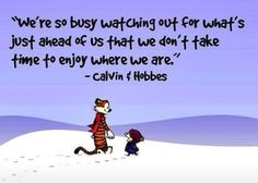 Love Calvin and Hobbes- being PRESENT!