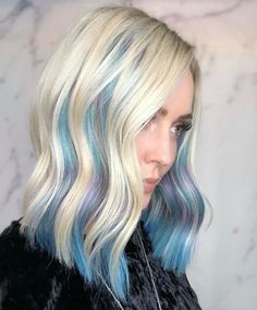 The Inverted Hair Color Trend Will Give You a Bold Look Sans the Commitment Peekaboo Hair Colors, Neon Hair Color, Dramatic Hair Colors, Bold Colors, Hidden Hair Color, Lavender Hair Colors, Bleaching Your Hair, Haircuts For Fine Hair, Short Haircuts