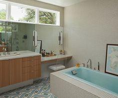 mid century bathroom tile | mid-century modern ranch home | Vim & Vintage - design. life. style.