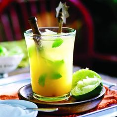 Mango caipirinha recipe - Chatelaine.com | World Cup cocktail