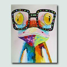 Pintada a mano Animal Modern,Un Panel Pintura al óleo pintada a colgar 5026861 2017 – $67.99