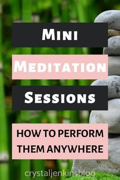 Did you know that you can practice meditation just about anywhere?  Learn how to perform mini meditation sessions throughout your day!  Keep reading to learn how!  | learn how to meditate | meditation | meditating |  #meditating #meditation
